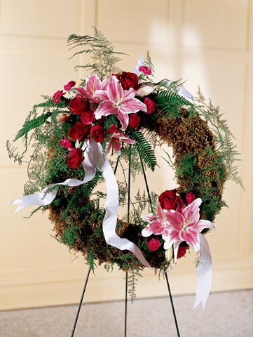 Lily & Rose Wreath