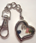 Keychain Locket (Heart)